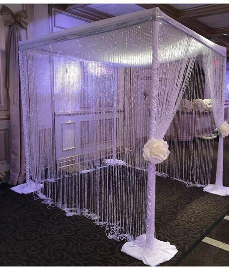 Crystal wedding canopy