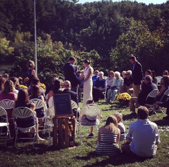 Ceremony lake side
