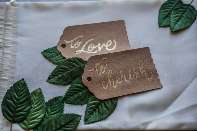 Embossed place cards