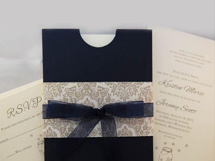 Tmx 1344344482396 HalfmoonPocketRibbon Littleton wedding invitation