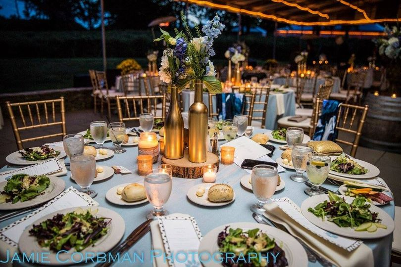 Table setting and floral decor