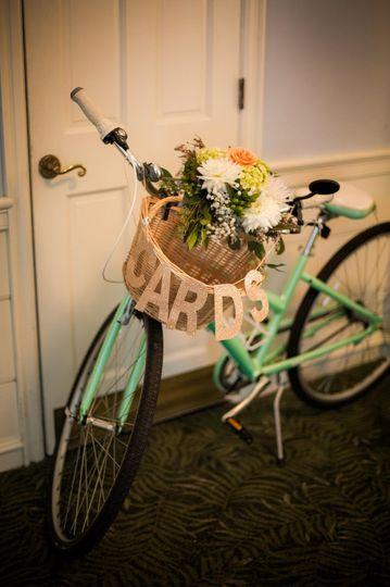 Floral decor on bike
