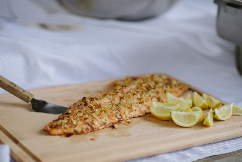 Salmon in Almonds