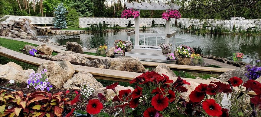 Wedding altar and amphitheater