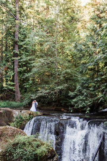 Bride & Groom - Whatcom Falls