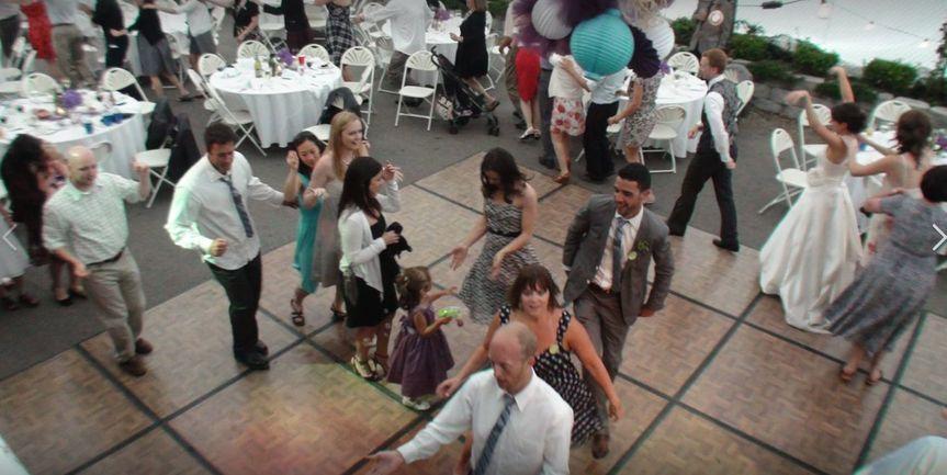 Dance floor full of people