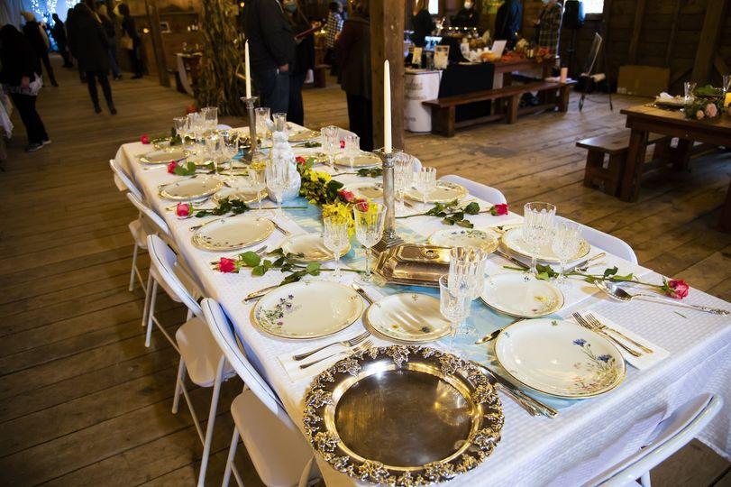 Barn celebration table