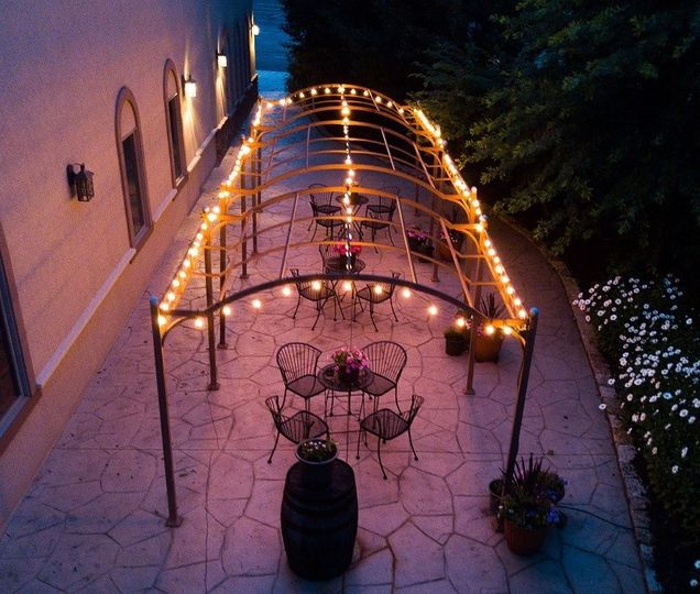 brookshire pergola at night