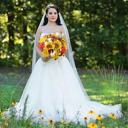 Final bridal look