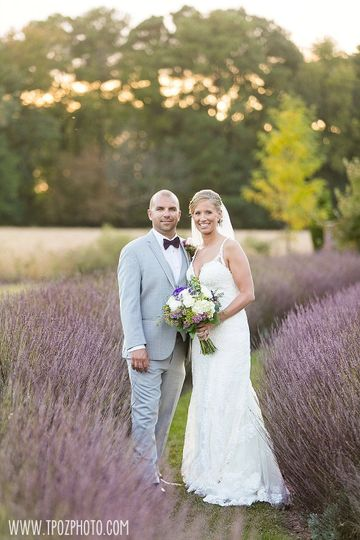 Couple photo in a lavender field