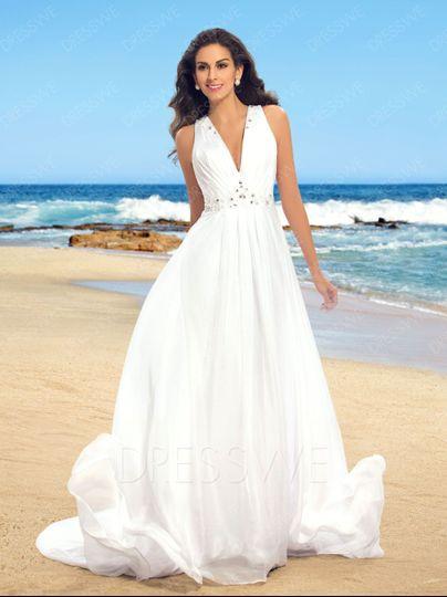 Beach bride 1