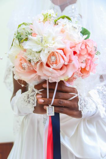 Close-up of the bouquet