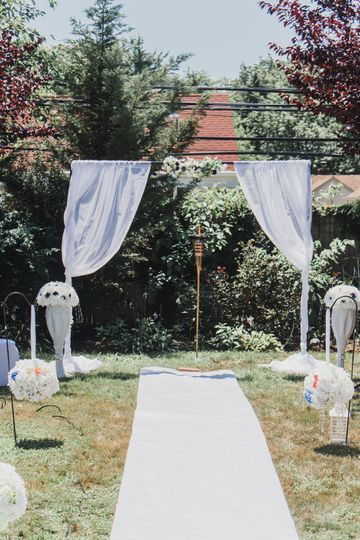 COVID Backyard Wedding