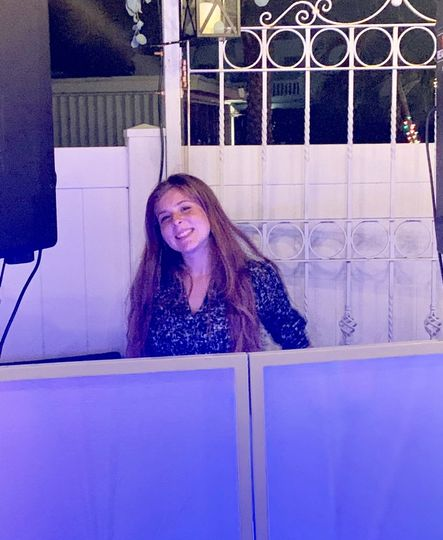 DJ Linnae behind the booth!