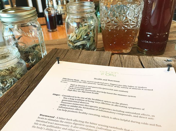 Beverage nutrition information explains the added benefits to our hand crafted elixirs and cordials.