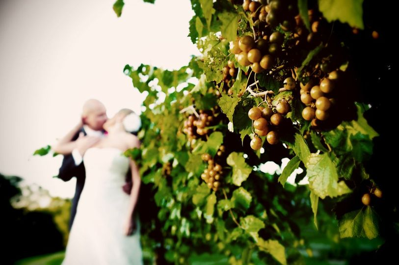 Ripe Grapes and a Kiss