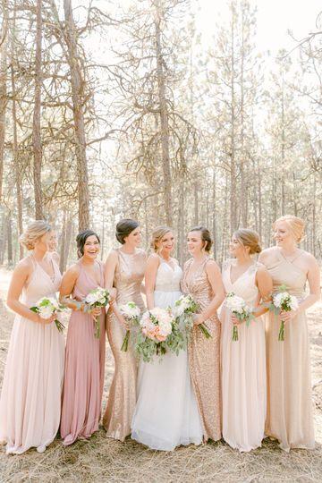 Bride tribe, bridesmaids