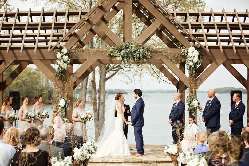 Wedding ceremony   Photo Credit: Happy Everything Co