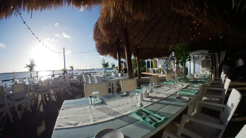 Fish eye view of the restaurant