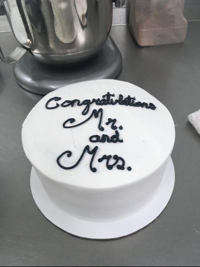 "Small 6"" Congrats cake"