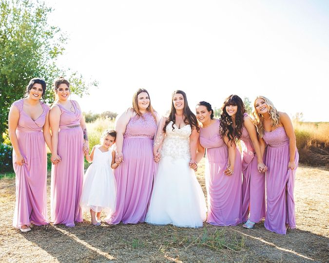 Bride and her girls.
