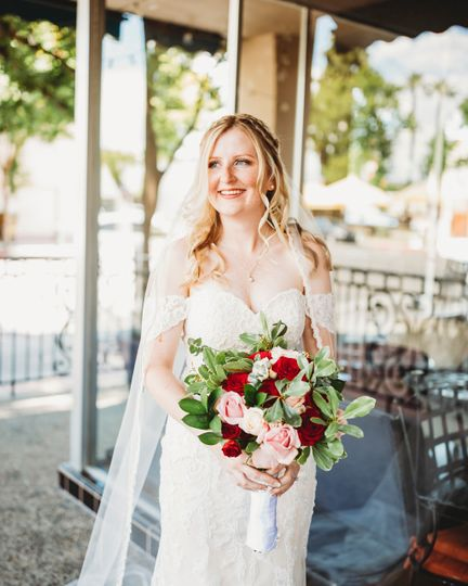 Bride in downtown Hanford