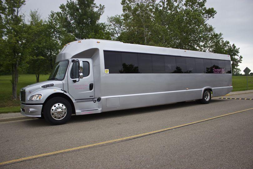Big silver bus