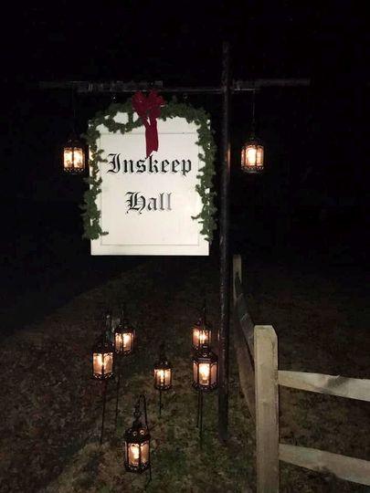 Inskeep Hall Sign Christmas