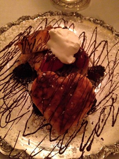 A romantic dessert option at Hill Crest Bed & Breakfast