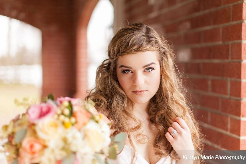 Bride and her makeup