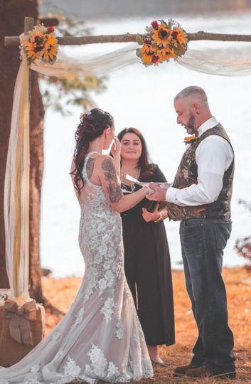 Backyard wedding, RI