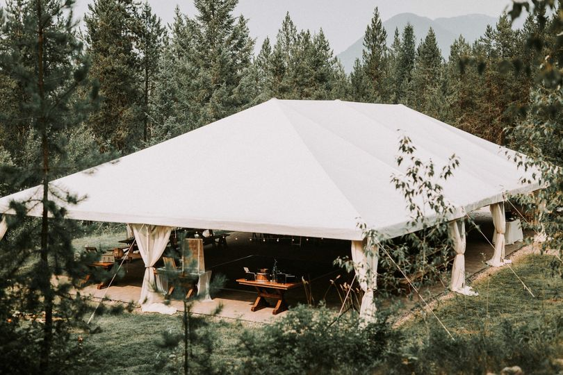 Tent at Great Northern Resort