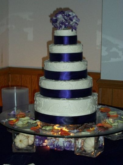 October 16, 2010 wedding, vanilla pound cake with buttercream icing.