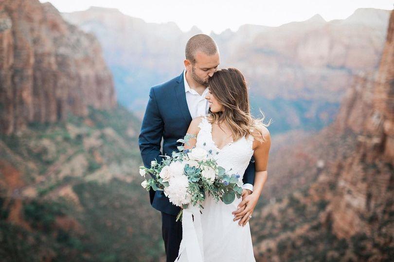 Zion overlook wedding