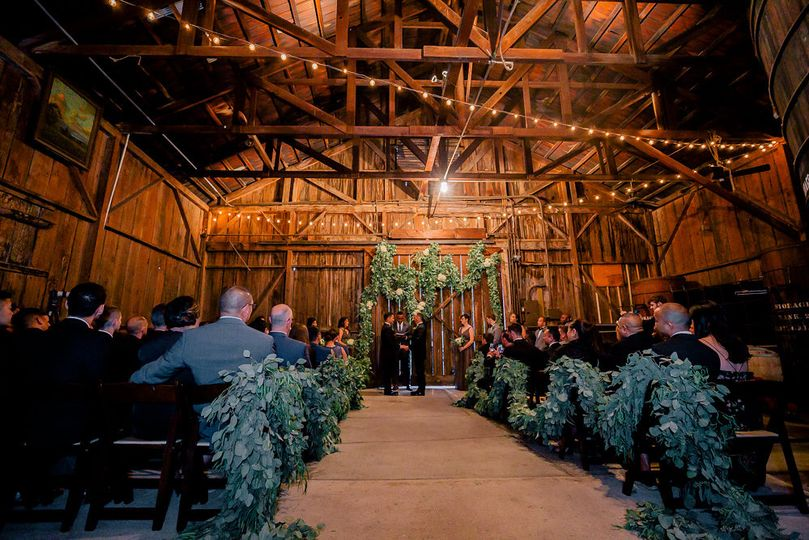 Ceremony barrel room