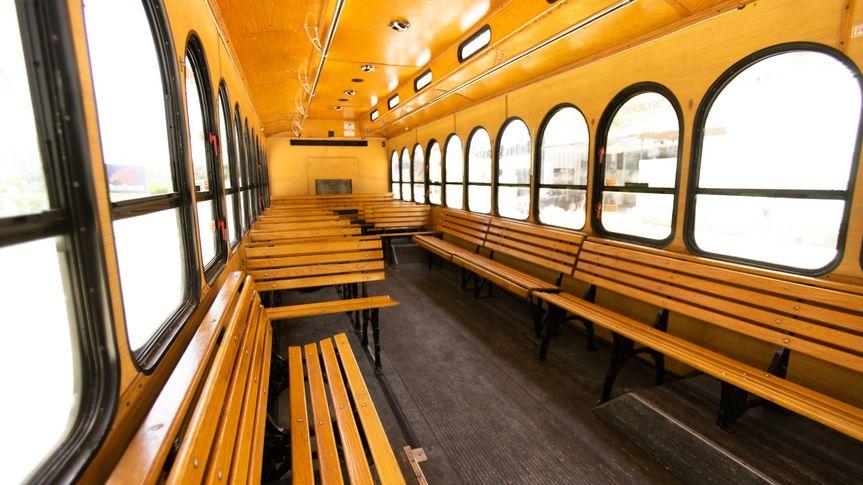 White Wedding Trolley Interior