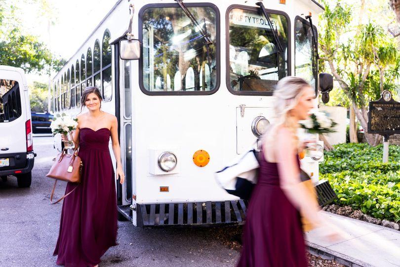 Bridesmaids transportation