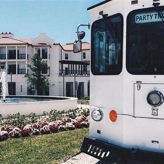 The front of the trolley