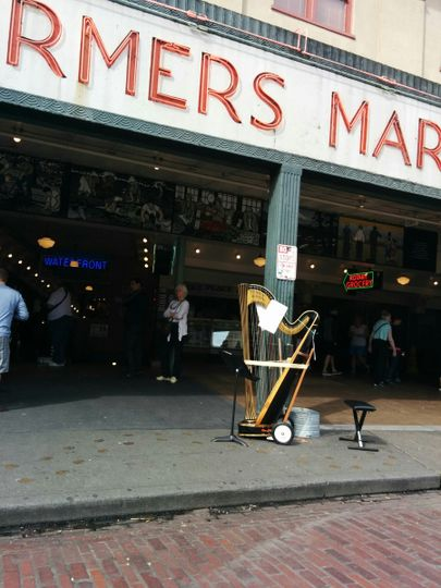 Harp on the move at the iconic Pike's Market