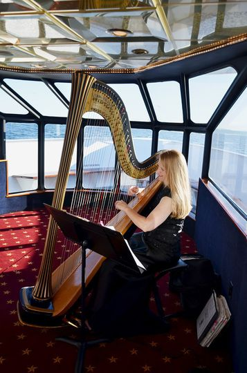 Playing onboard one of Waterway's Cruises Boats