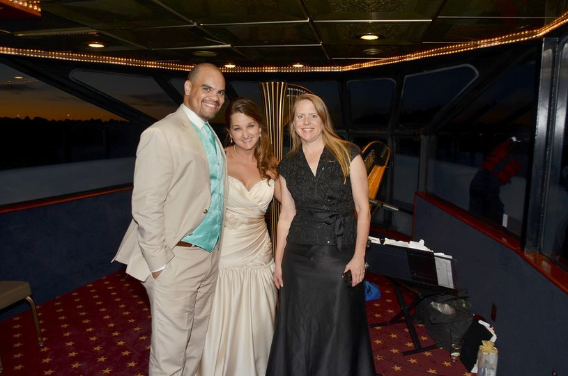 With the happy couple on Waterway's Cruises