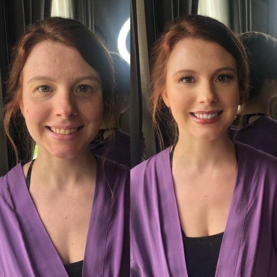 Bridesmaid airbrush makeup