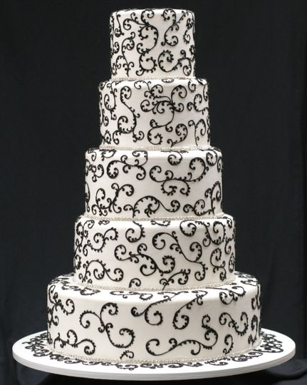 tier white with black swirl