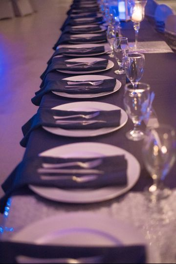 Table setting and glassware