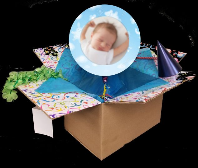 Baby Announcement in a Box