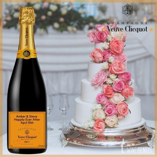 Veuve Clicquot Custom Labeled