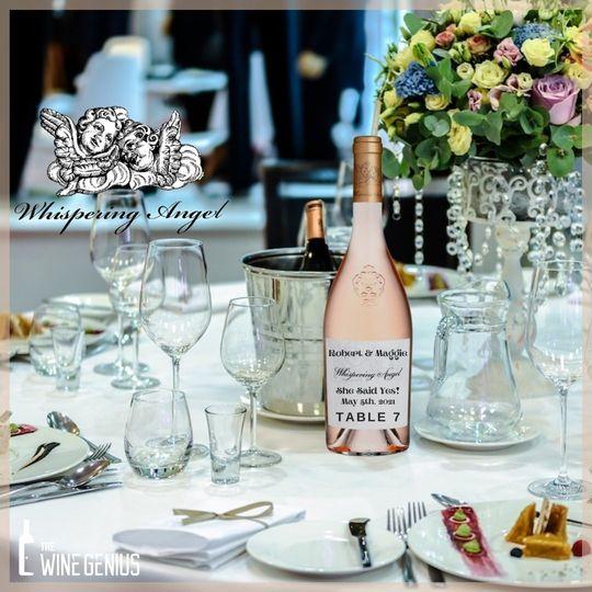 Custom Labeled Wedding Rose