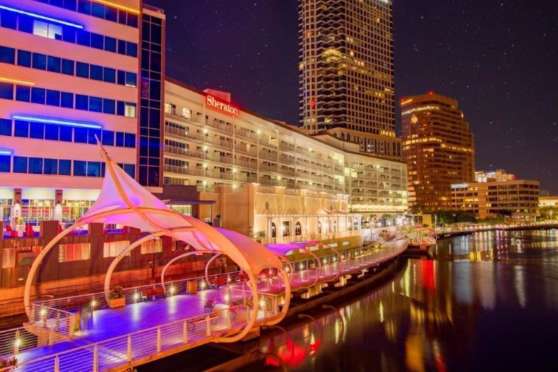 The Riverwalk at night is beautiful!