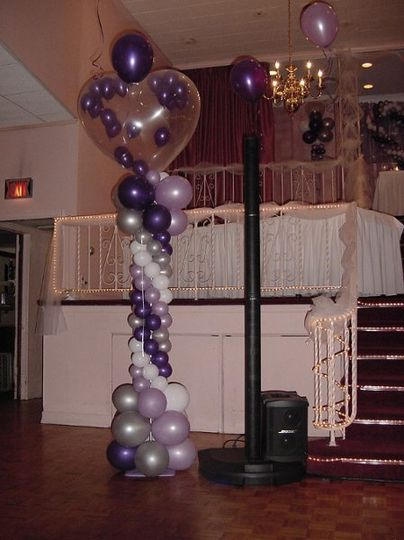 """Our BOSE speaker """"hiding"""" to the right of the balloons"""