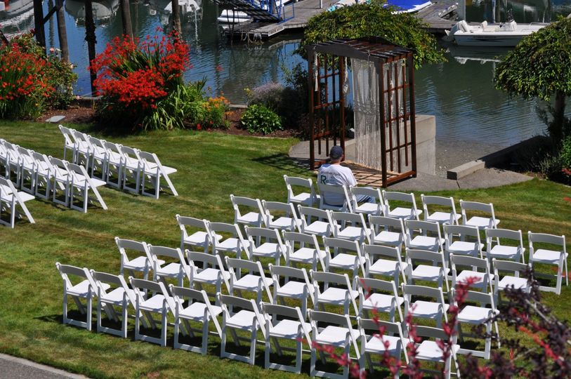 Beautiful outdoor ceremony